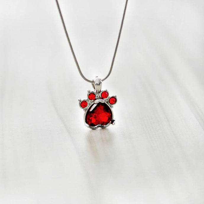 Paws & Claws Birthstone Necklace