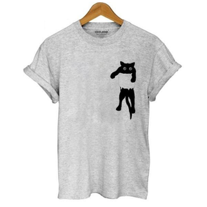 Cute Cat Pocket Tee