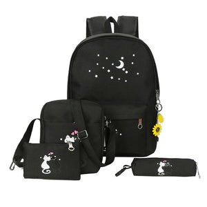 Moon & Stars Cat Backpack Set