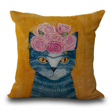 Cartoon Cat Pillow Cover