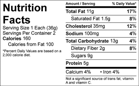 fit-flavors chocolate brownie nutrition facts