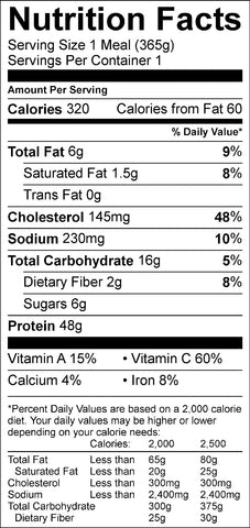 grilled BBQ chicken with veggie skewers nutrition facts