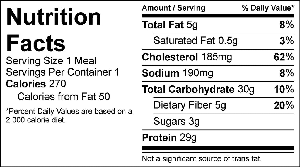 garlic ginger shrimp and rice nutrition facts