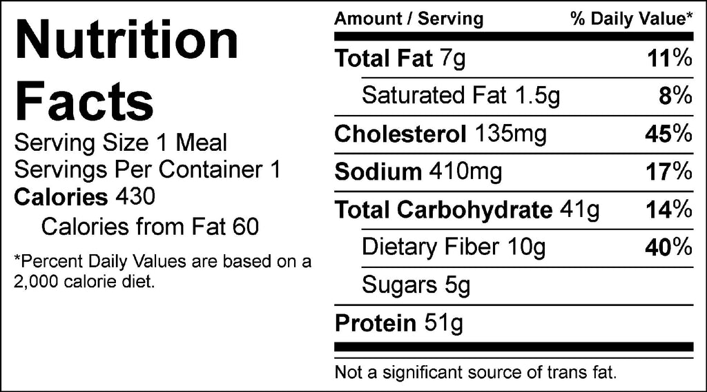 jerk chicken and dirty rice nutrition facts