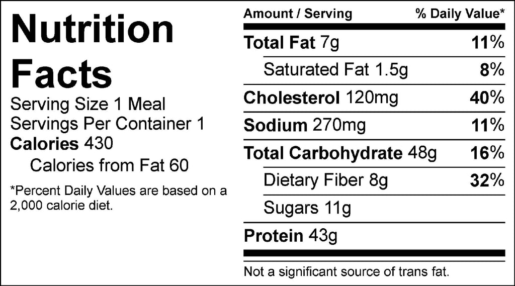 apricot chicken and roasted potatoes nutrition facts