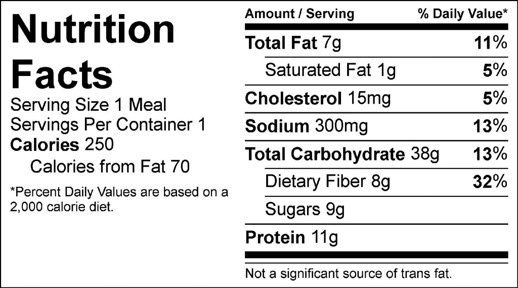falafel and pesto zoodles nutrition facts