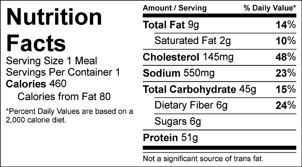 country chicken dinner nutrition facts