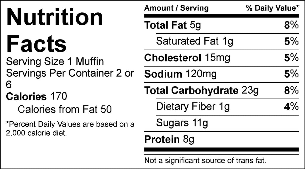 coffee cake muffin nutrition facts