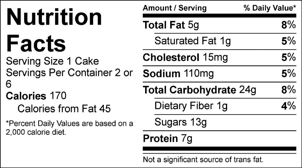 orange crumble cake nutrition facts