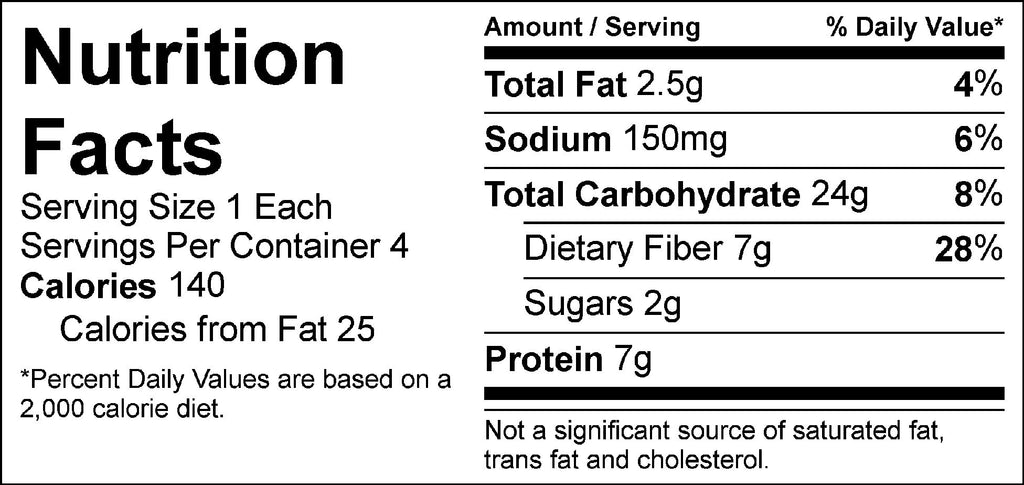 pure protein black bean burger nutrition facts