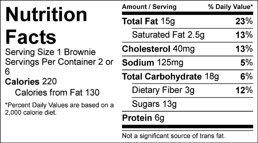 turtle brownies nutrition facts