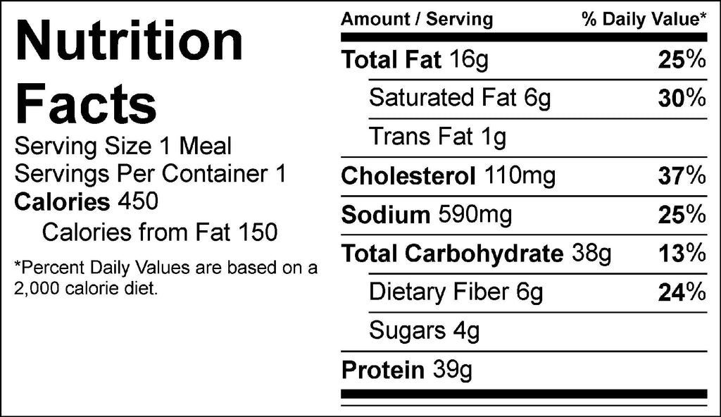 burger and potatoes nutrition facts