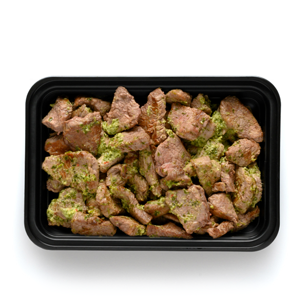 pure protein walnut pesto steak tips