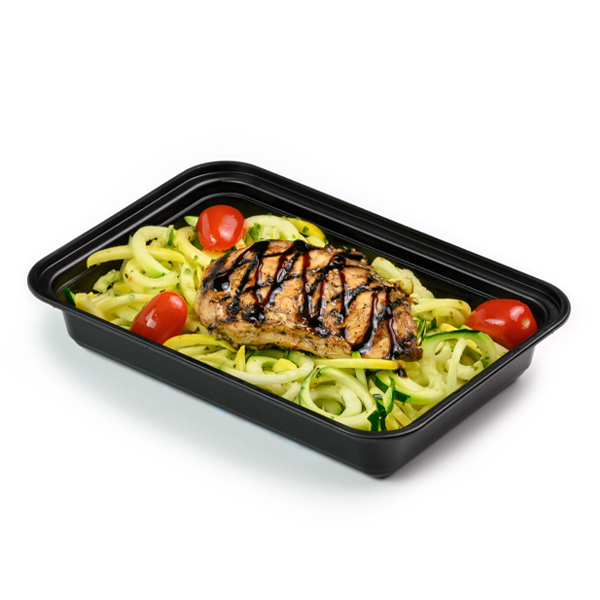 balsamic chicken and zoodles packaged