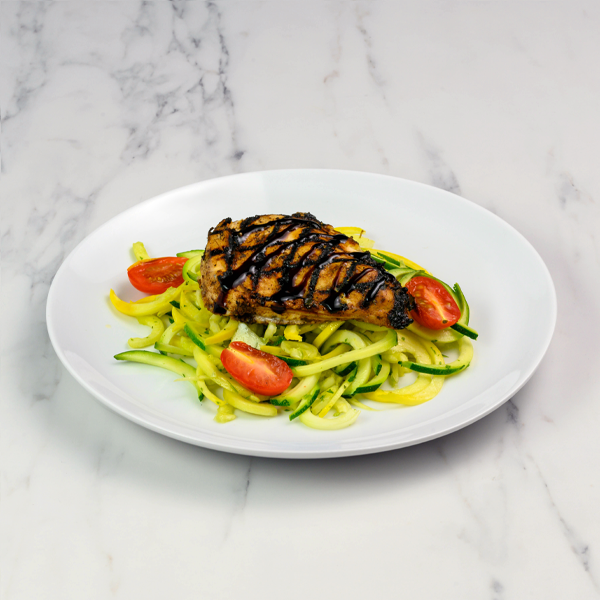 balsamic chicken and zoodles