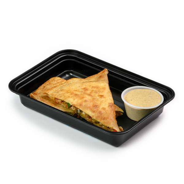 bean and veggie quesadilla packaged