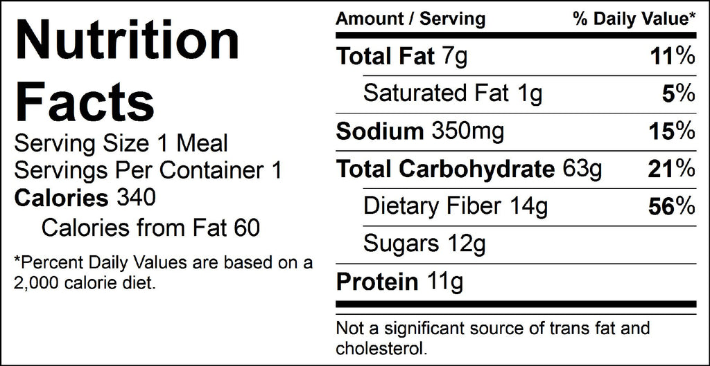 black bean burger nutrition facts