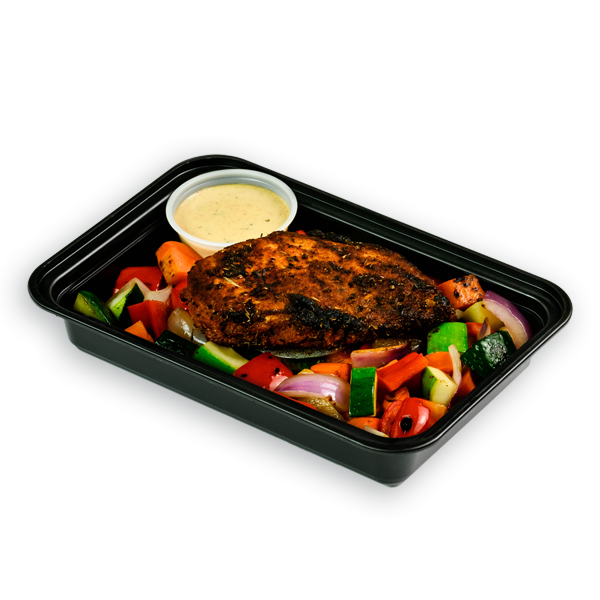 blackened chicken packaged