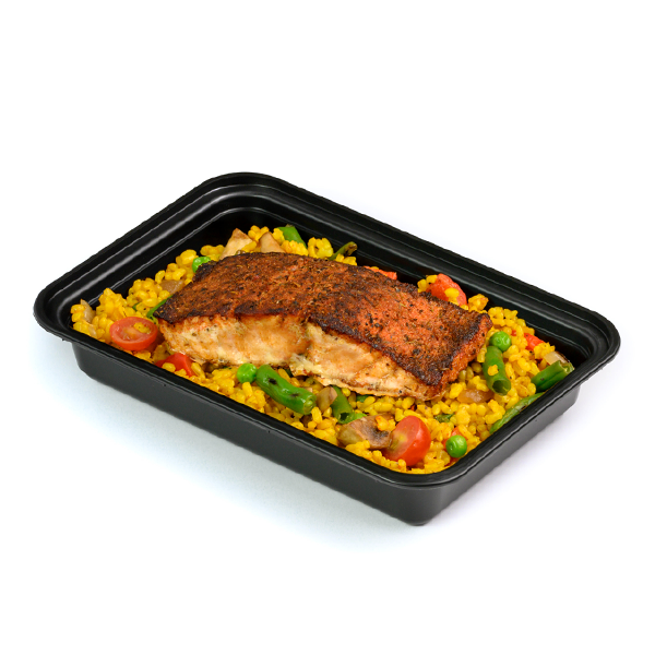blackened salmon packaged