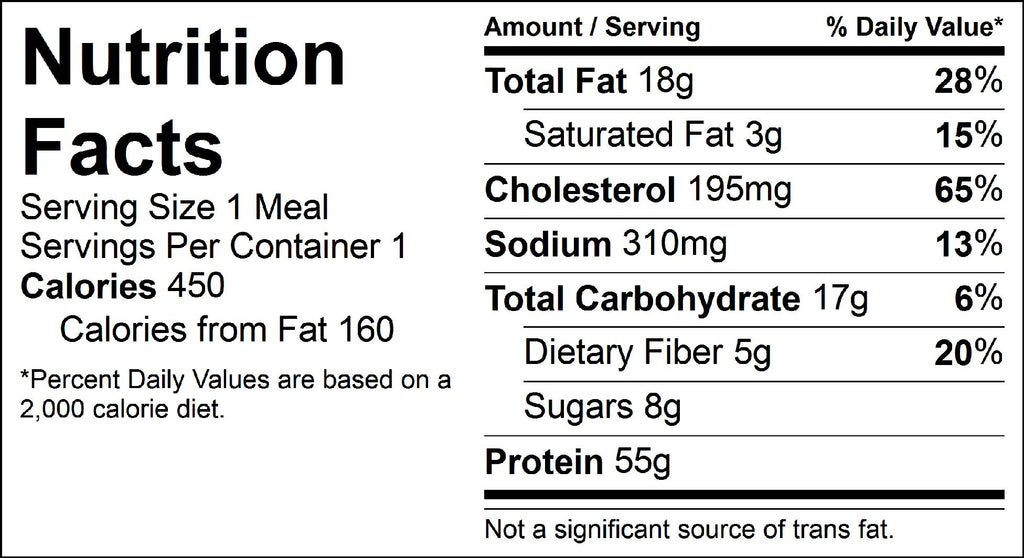 blackened chicken nutrition facts