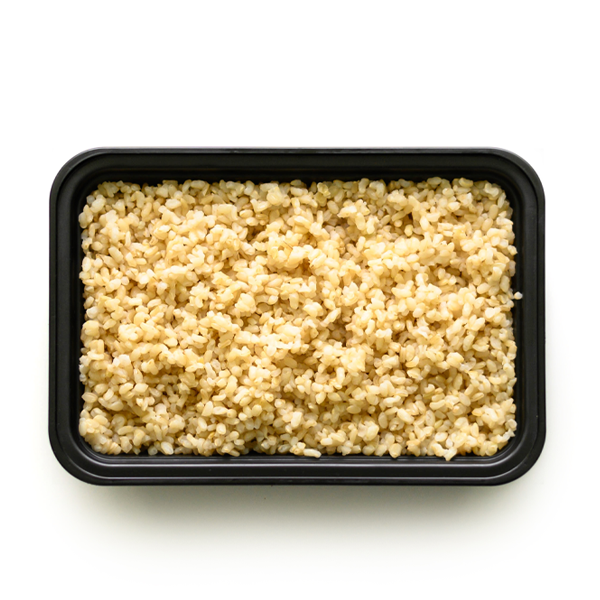 carb load brown rice overhead