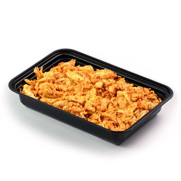 pure protein pulled buffalo chicken angled