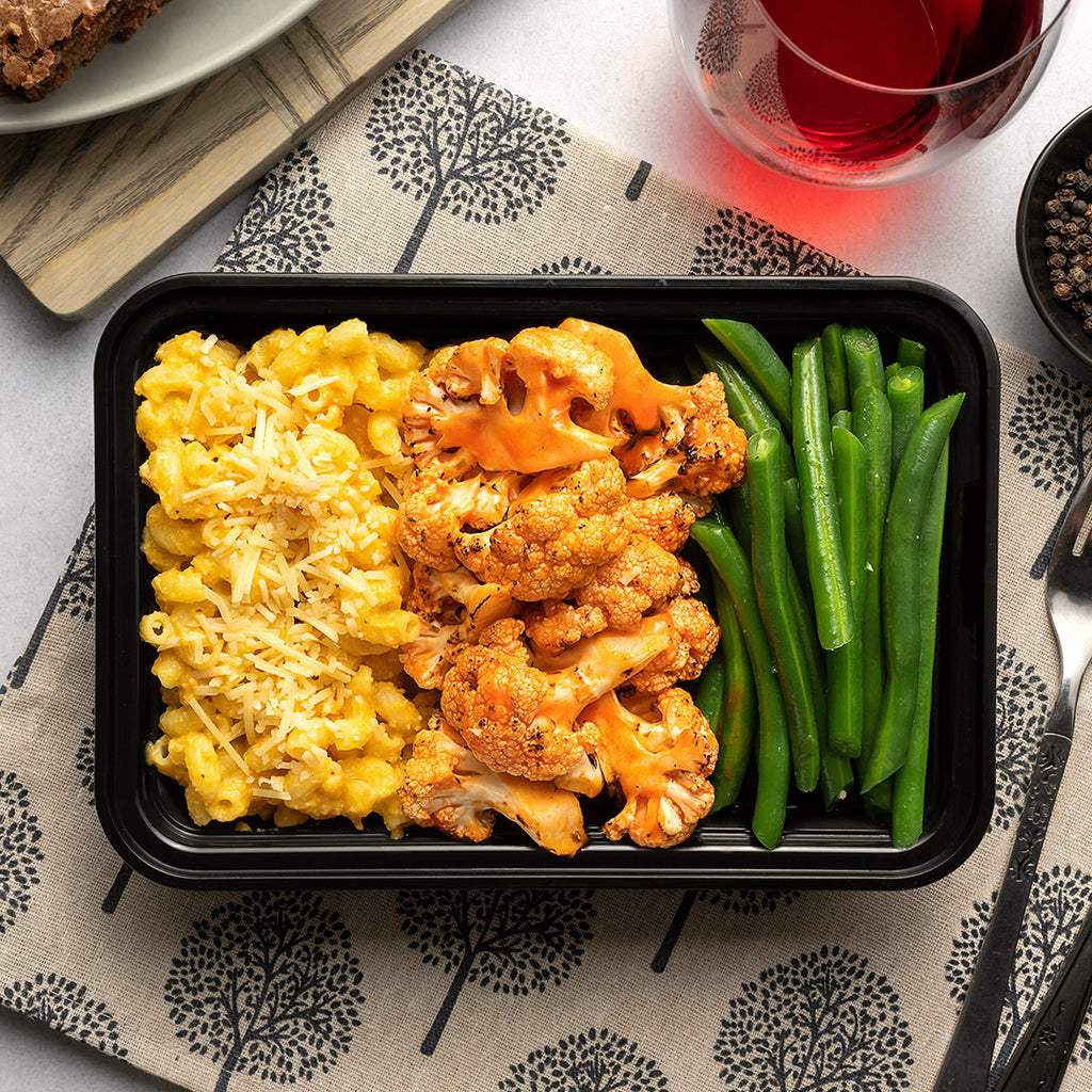 Buffalo Cauliflower & Mac N Cheese