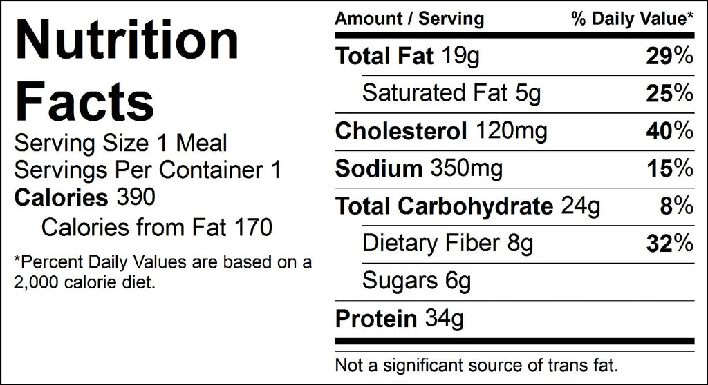 chicken taco salad nutrition facts