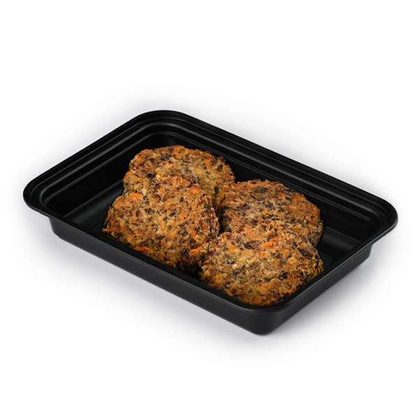 pure protein black bean burger angled