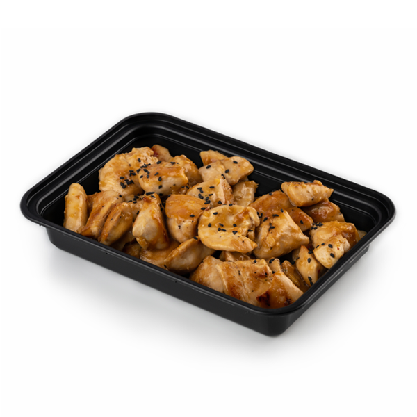 pure protein orange chicken in container