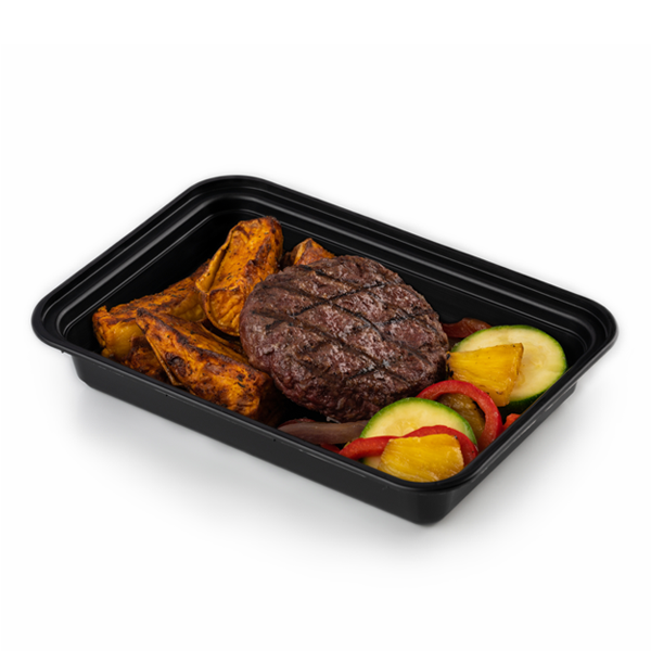 bison and fries in container