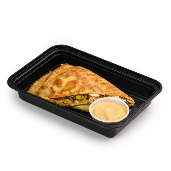 chicken and cheese quesadilla container