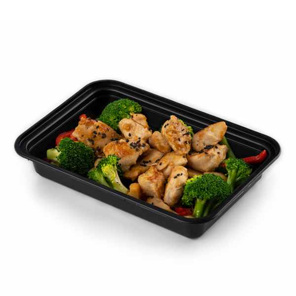 orange chicken in container