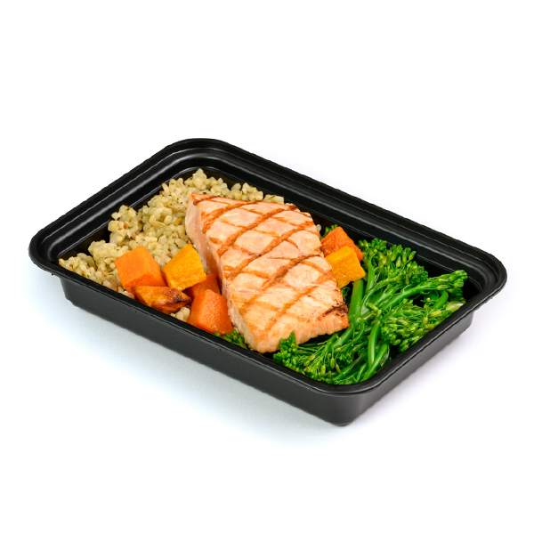 grilled salmon packaged