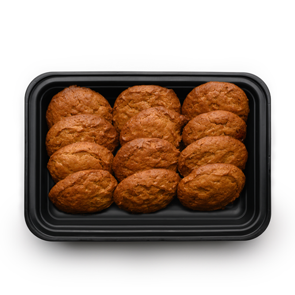 peanut butter cookies six pack overhead