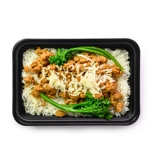 turkey sloppy joe bowl container overhead