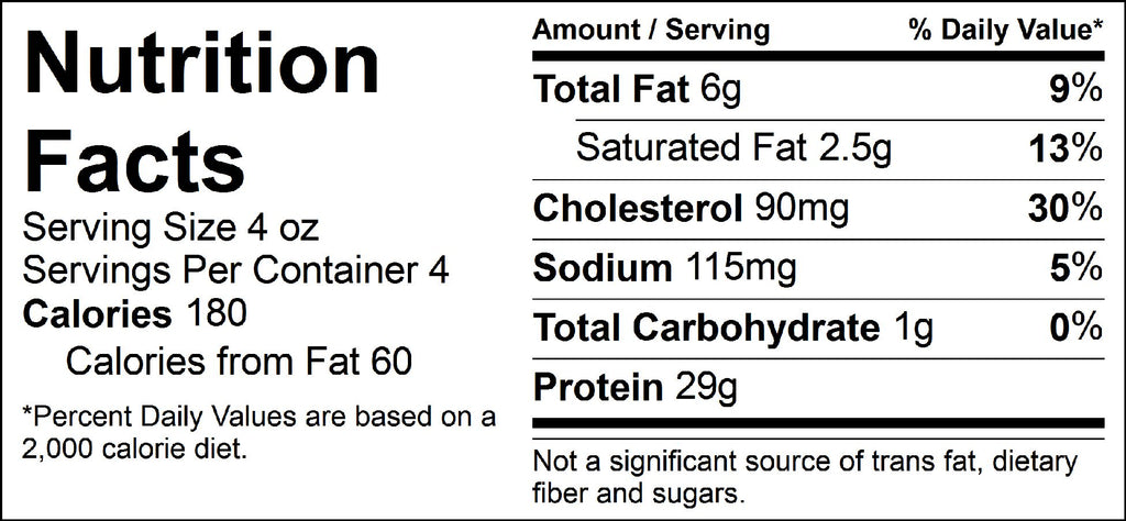 pure protein smoked steak nutrition facts