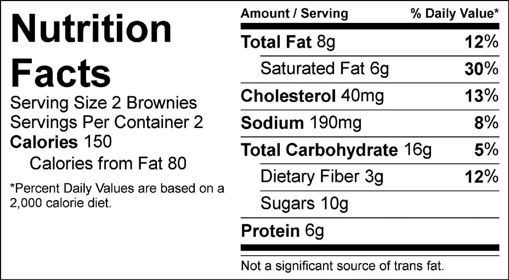 mini brownie bites nutrition facts fit flavors snacks