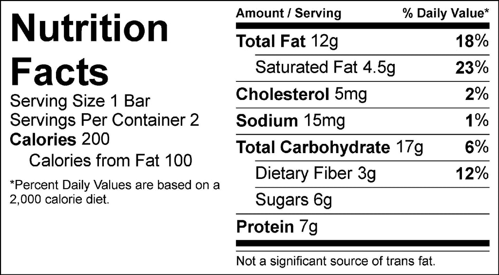 momma mary raw bars nutrition facts fit flavors snacks