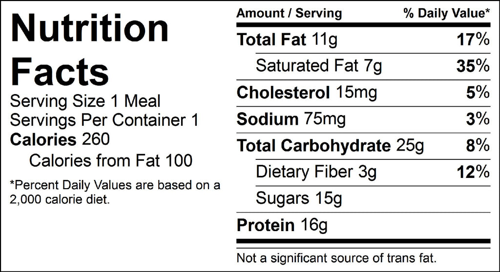 strawberry banana parfait nutrition facts
