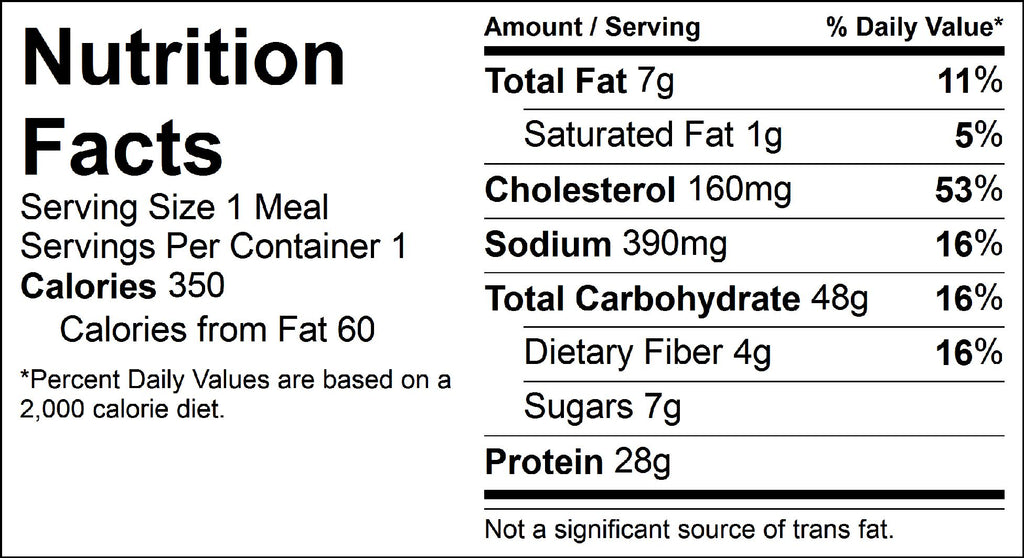 sweet and sour shrimp nutrition facts