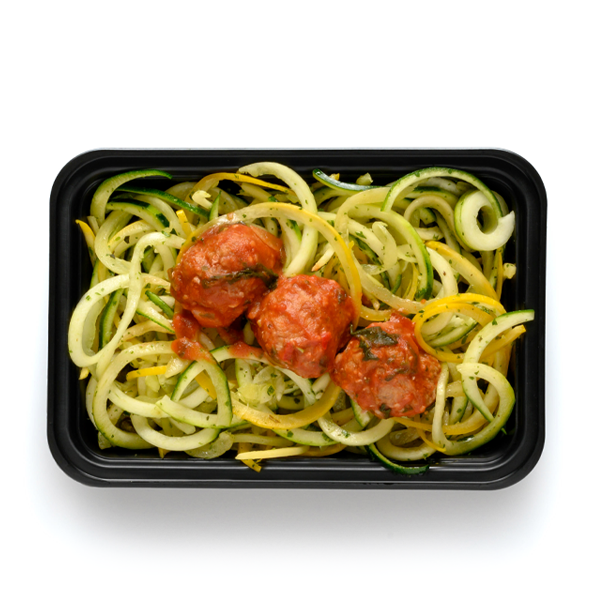 turkey sage meatballs packaged overhead