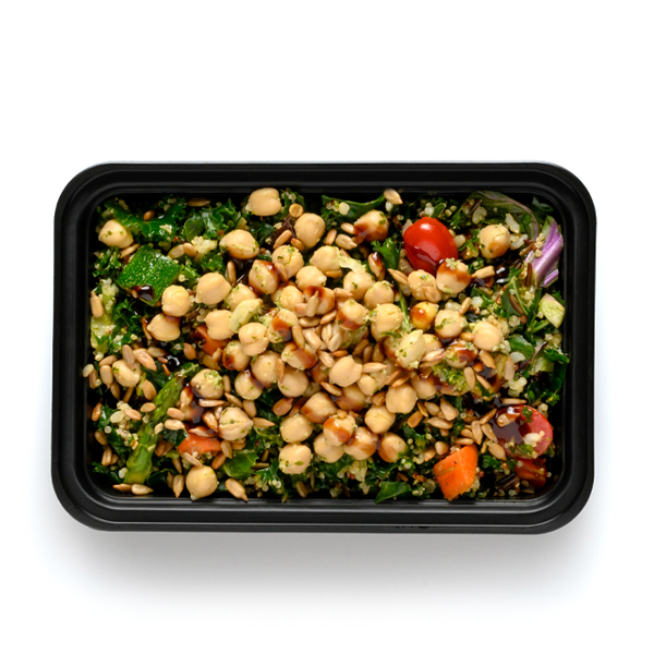 vegan bowl packaged overhead