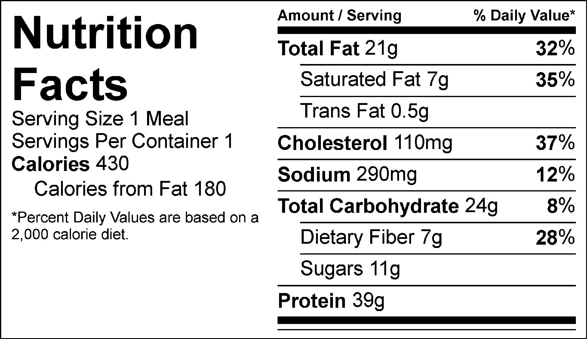 smash burger nutrition facts