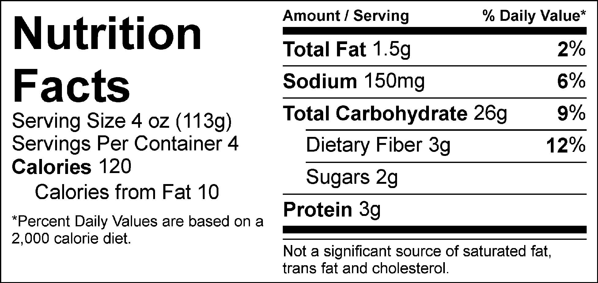 carb load turmeric rice pilaf nutrition facts