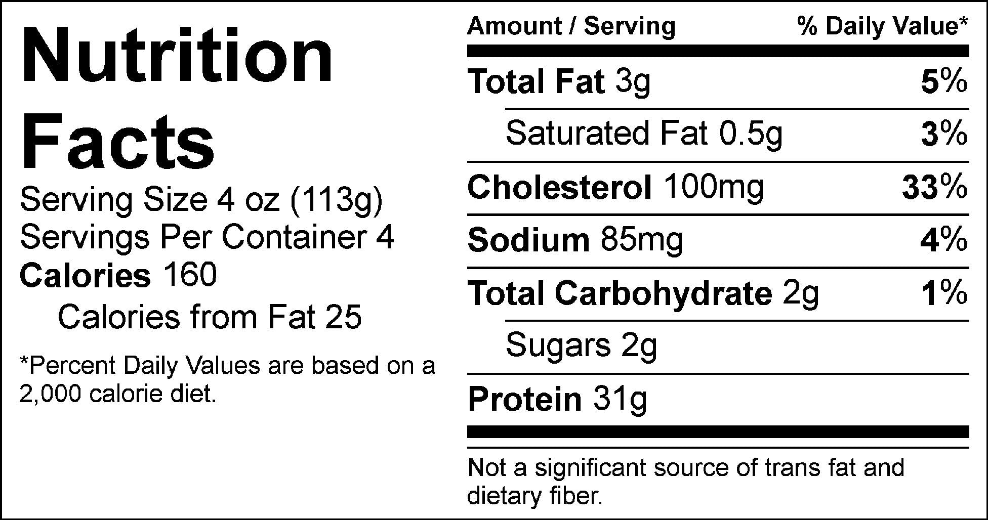pure protein rosemary apple chicken nutrition facts