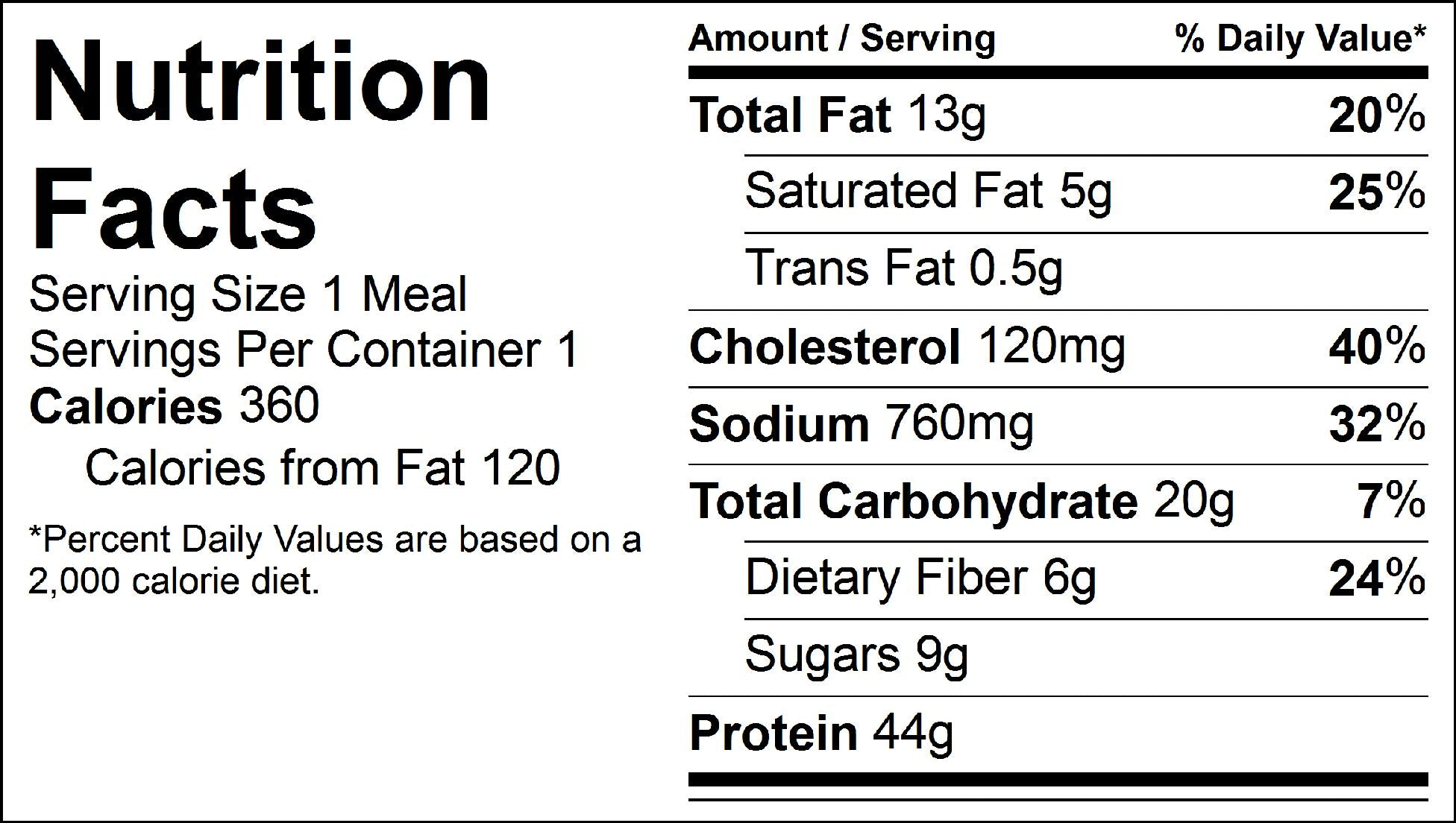 beef and broccoli nutrition facts