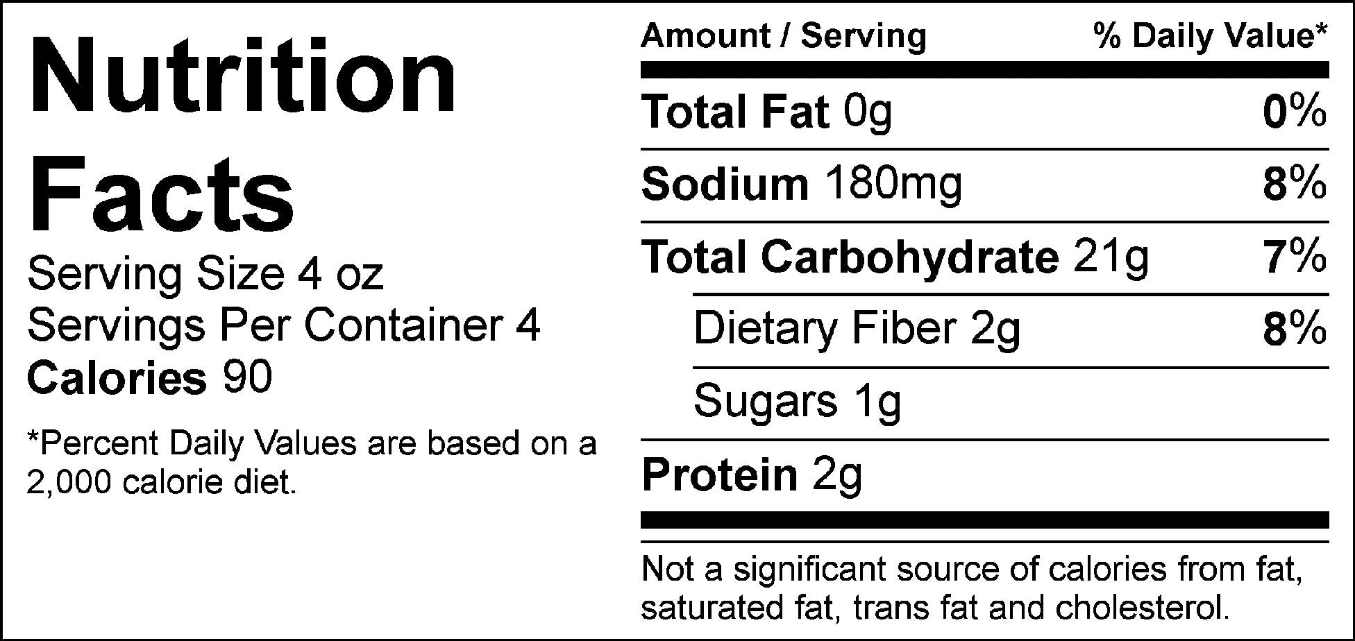 carb load yukon whips nutrition facts