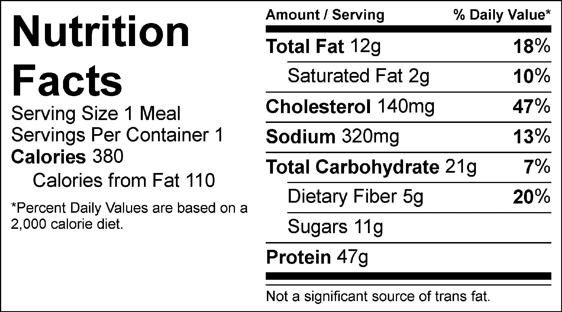 kung pao chicken nutrition facts