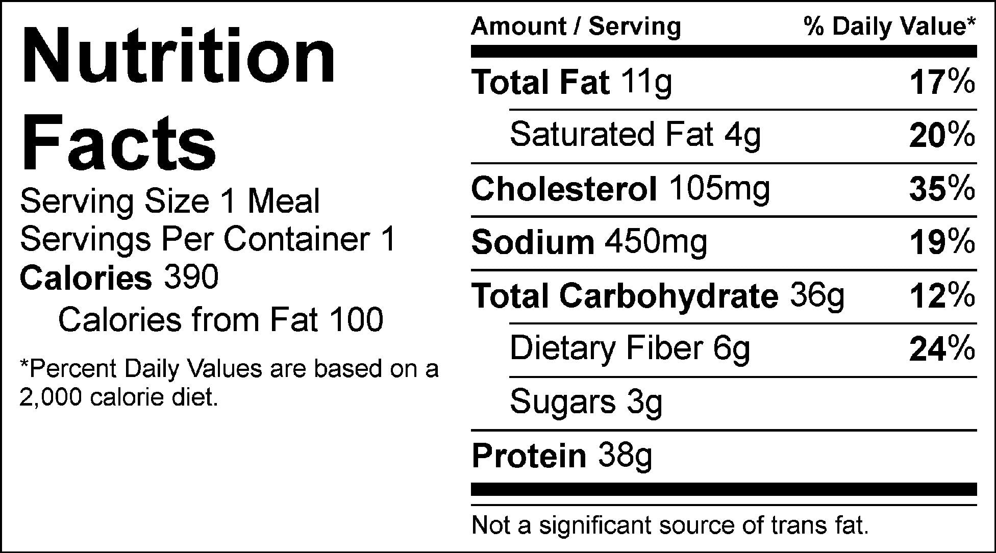 chicken strips and yukon whips nutrition facts